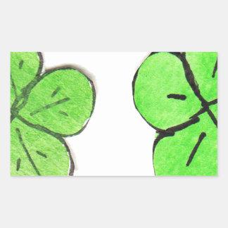 Geluk van de Ieren Rechthoekige Sticker