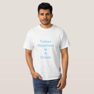 Geluk vandaag en morgen t shirt