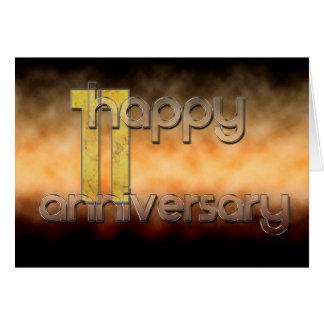 Gelukkig 11de Jubileum (huwelijksverjaardag) Kaart