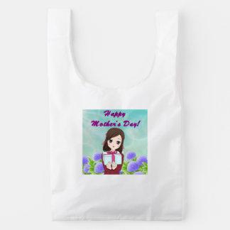 Gelukkig Aanwezig Moederdag (Klantgericht) Herbruikbare Tas