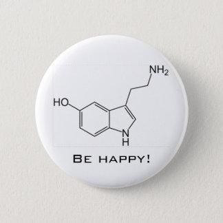 Gelukkig ben! De Knoop van de serotonine Ronde Button 5,7 Cm