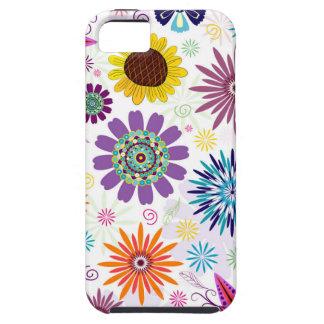 Gelukkig bloemenpatroon tough iPhone 5 hoesje