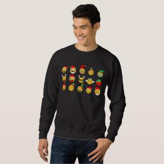 gelukkig de gezichten mannen sweatshirt van