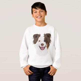 Gelukkig de hondengezicht Border collie van de Trui