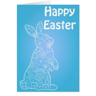 Gelukkig de kaart helder blauw van Pasen