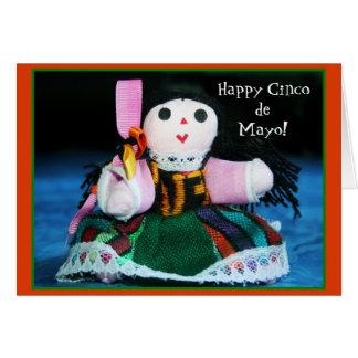 Gelukkig de poppenwenskaart van Cinco DE Mayo Wenskaart