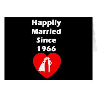 Gelukkig Gehuwd sinds 1966 Wenskaart