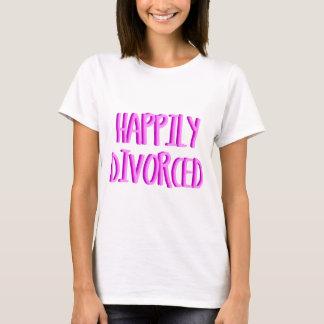 Gelukkig Gescheiden Vrouw te zijn T Shirt