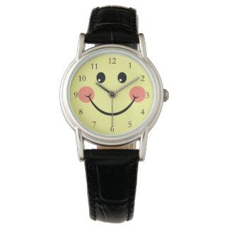 Gelukkig Gezicht met Aantallen Horloges