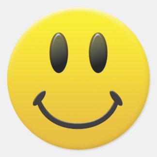 Gelukkig Gezicht Smiley Ronde Sticker