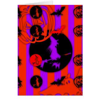 Gelukkig Halloween met elektrische Kleuren!!!!!!! Briefkaarten 0