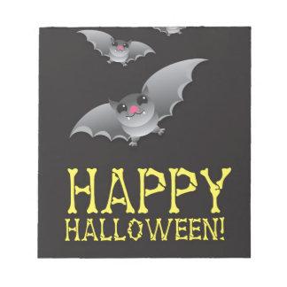 Gelukkig Halloween met leuke getikt Kladblok