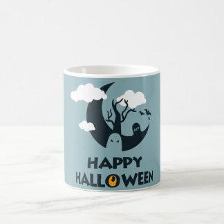 Gelukkig Halloween met maan en kerkhof Koffiemok