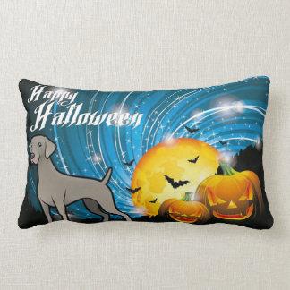Gelukkig Halloween Weimaraner Lumbar Kussen
