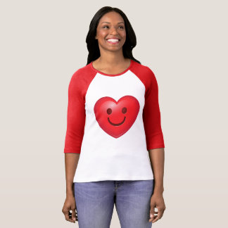 Gelukkig Hart Emoji T Shirt