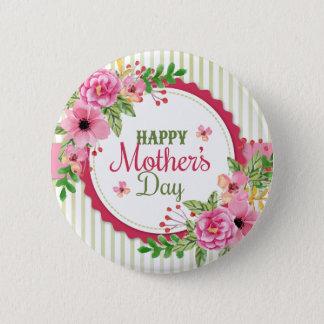 Gelukkig het boeketlijst van de moederdag vintage ronde button 5,7 cm