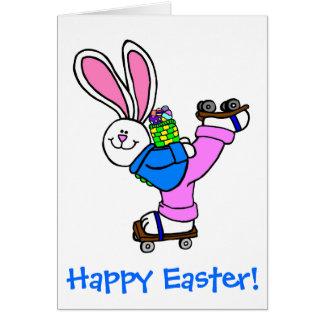 Gelukkig het Schaatsen van de Rol van Pasen Kaart