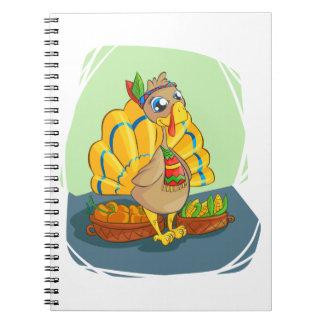 Gelukkig Indisch Turkije klaar voor Thanksgiving Ringband Notitieboek