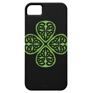 Gelukkig Keltisch Ontwerp 4 bladklaver iphone4 Barely There iPhone 5 Hoesje