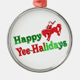 Gelukkig luxeornament yEE-HAlidays Zilverkleurig Rond Ornament