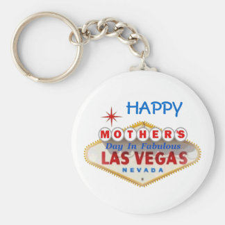 GELUKKIG Moederdag in Fabelachtig Las Vegas Keycha Sleutelhanger