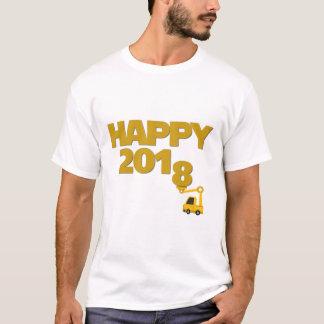 Gelukkig Nieuw jaar 2018 de T-shirt van het Man