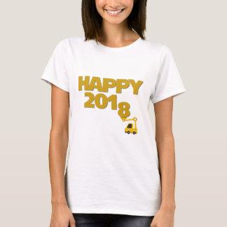 Gelukkig Nieuw jaar 2018 de T-shirt van Vrouwen