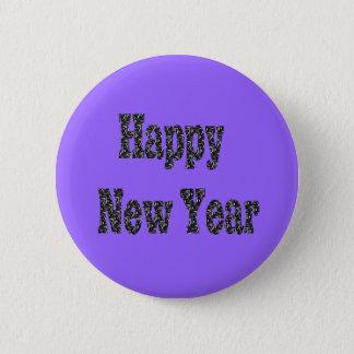 gelukkig nieuw jaar ronde button 5,7 cm