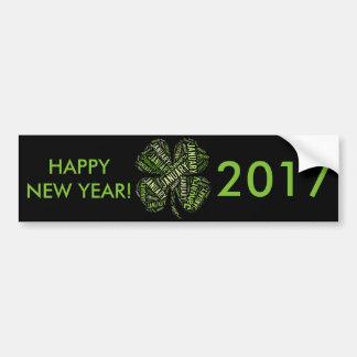 Gelukkig Nieuwjaar 2017 Januari Vier de Klaver van Bumpersticker