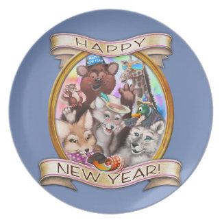 Gelukkig Nieuwjaar - het inbare bord van Staarten