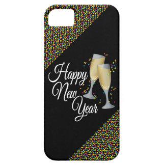 Gelukkig Nieuwjaar I de Glazen van Champagne Barely There iPhone 5 Hoesje