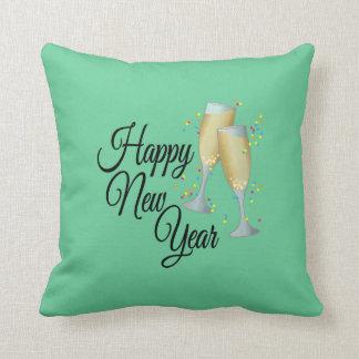 Gelukkig Nieuwjaar met Champagne & Confettien Sierkussen