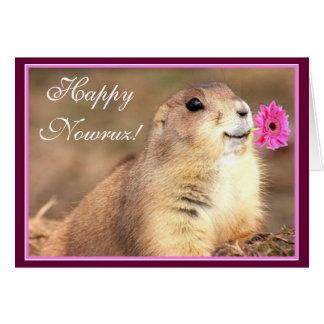Gelukkig Nowruz prairiehondwenskaart Briefkaarten 0