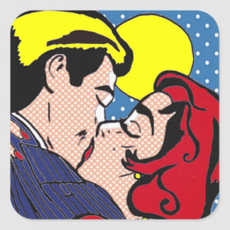 Gelukkig ooit na de Stickers van het Pop-art