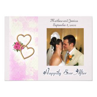 Gelukkig ooit na met de Foto van het Huwelijk van 13,9x19,1 Uitnodiging Kaart