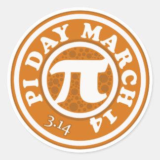 Gelukkig Pi Dag 14 Maart Ronde Sticker