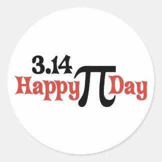 Gelukkig Pi Dag 3.14 - 14 Maart Ronde Sticker