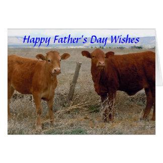 Gelukkig Vaderdag - de Rode Dierlijke Humor van de Wenskaart