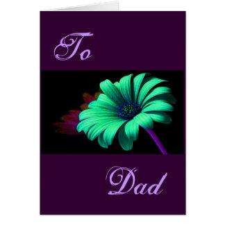 Gelukkig Vaderdag Groenachtig blauwe Daisy I Kaarten