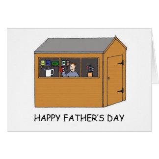 Gelukkig Vaderdag, man in zijn loods Kaart