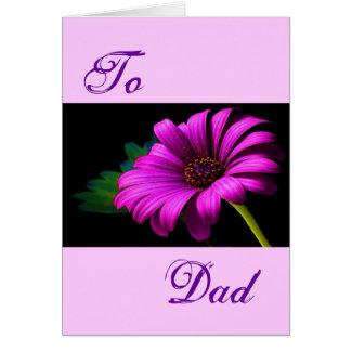 Gelukkig Vaderdag Paarse Roze Daisy II Kaarten