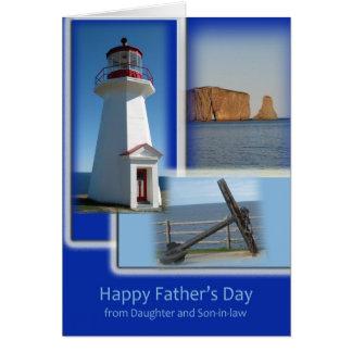 Gelukkig Vaderdag - van Dochter en Schoonzoon Briefkaarten 0