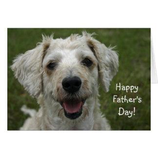 Gelukkig Vaderdag van Hond Wenskaart
