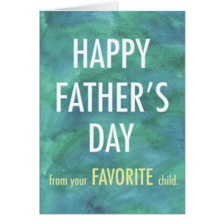 Gelukkig Vaderdag van Uw Favoriete Kaart van het