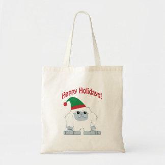 Gelukkig Vakantie! De Yeti van Kerstmis Budget Draagtas