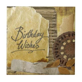 Gelukkig-verjaardag #3 tegeltje