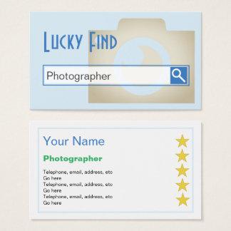 """""""Gelukkig vind"""" de Visitekaartjes van de Fotograaf"""