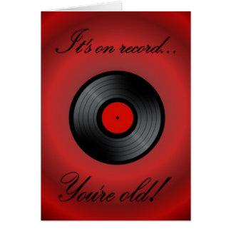 Gelukkig vinyl retro het verslag vinylalbum van de wenskaart