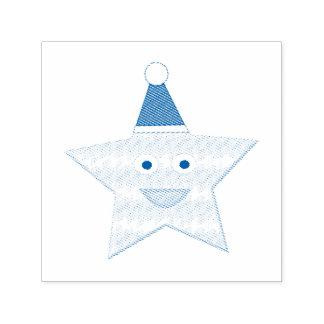 Gelukkig Weinig Zegel van de Ster van Kerstmis Zelfinktende Stempel