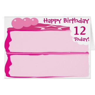 Gelukkige 12de Verjaardag Briefkaarten 0